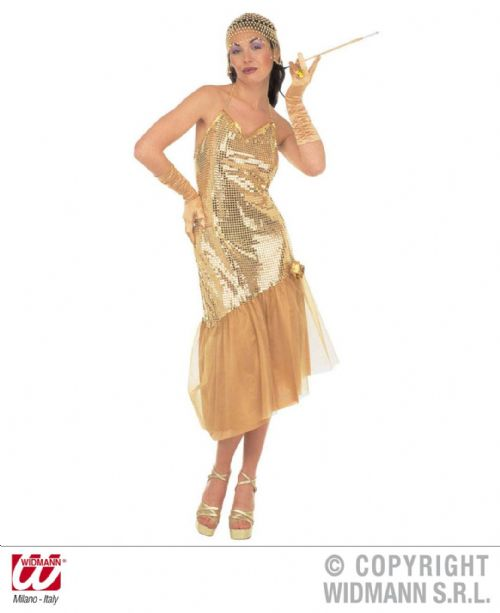 Adult Lulu Gold Costume Fancy Dress